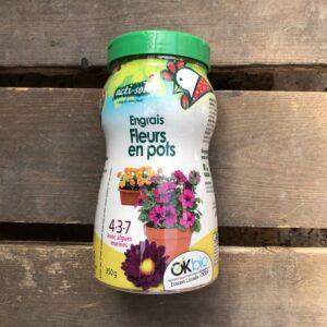 engrais fleurs en pots bio