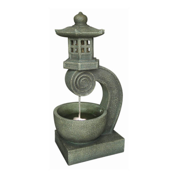 fontaine pagode japonaise